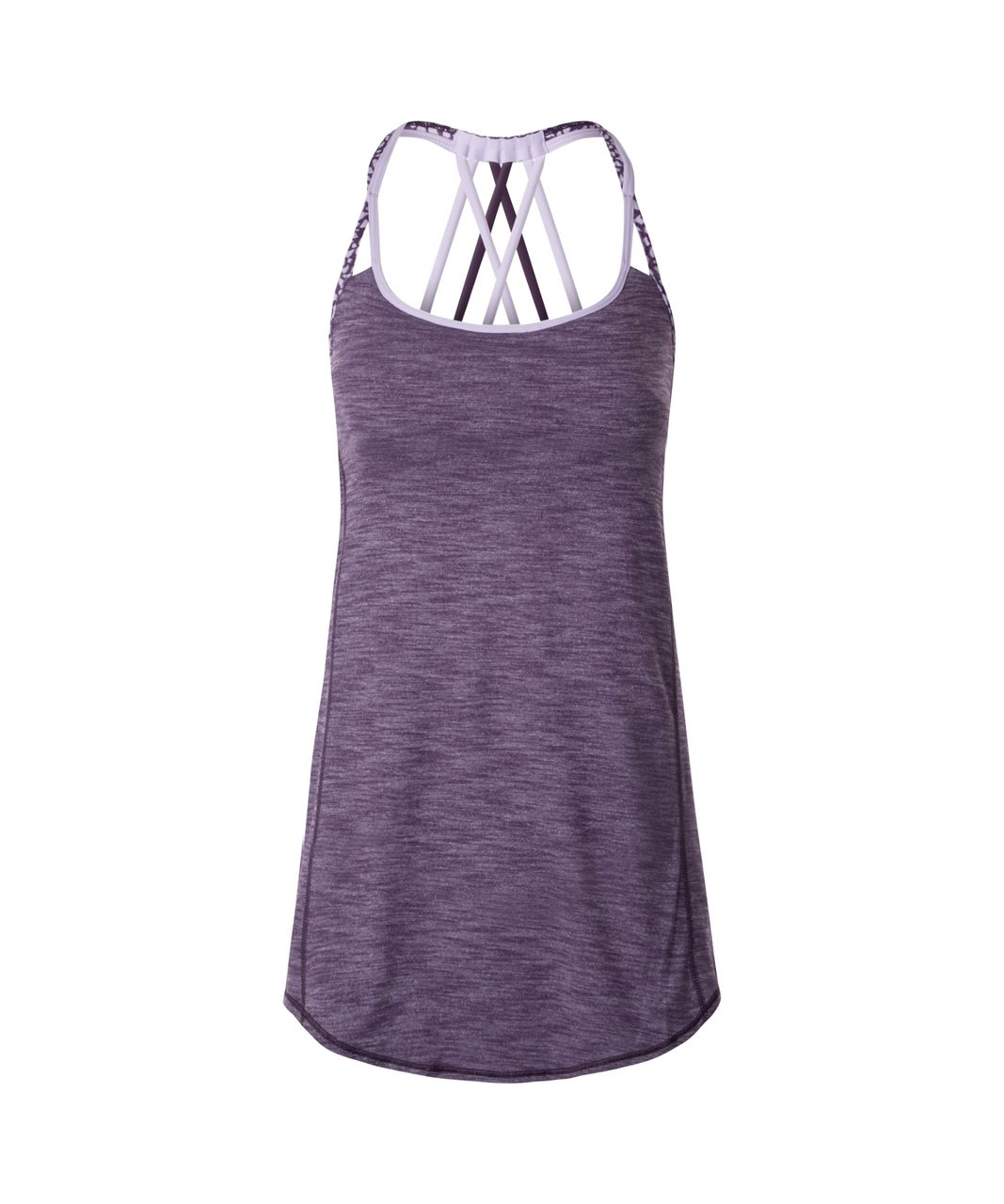 Lululemon Lighten Up Tank - Heathered Deep Zinfandel / Miss Mosaic Lilac Deep Zinfandel / Lilac