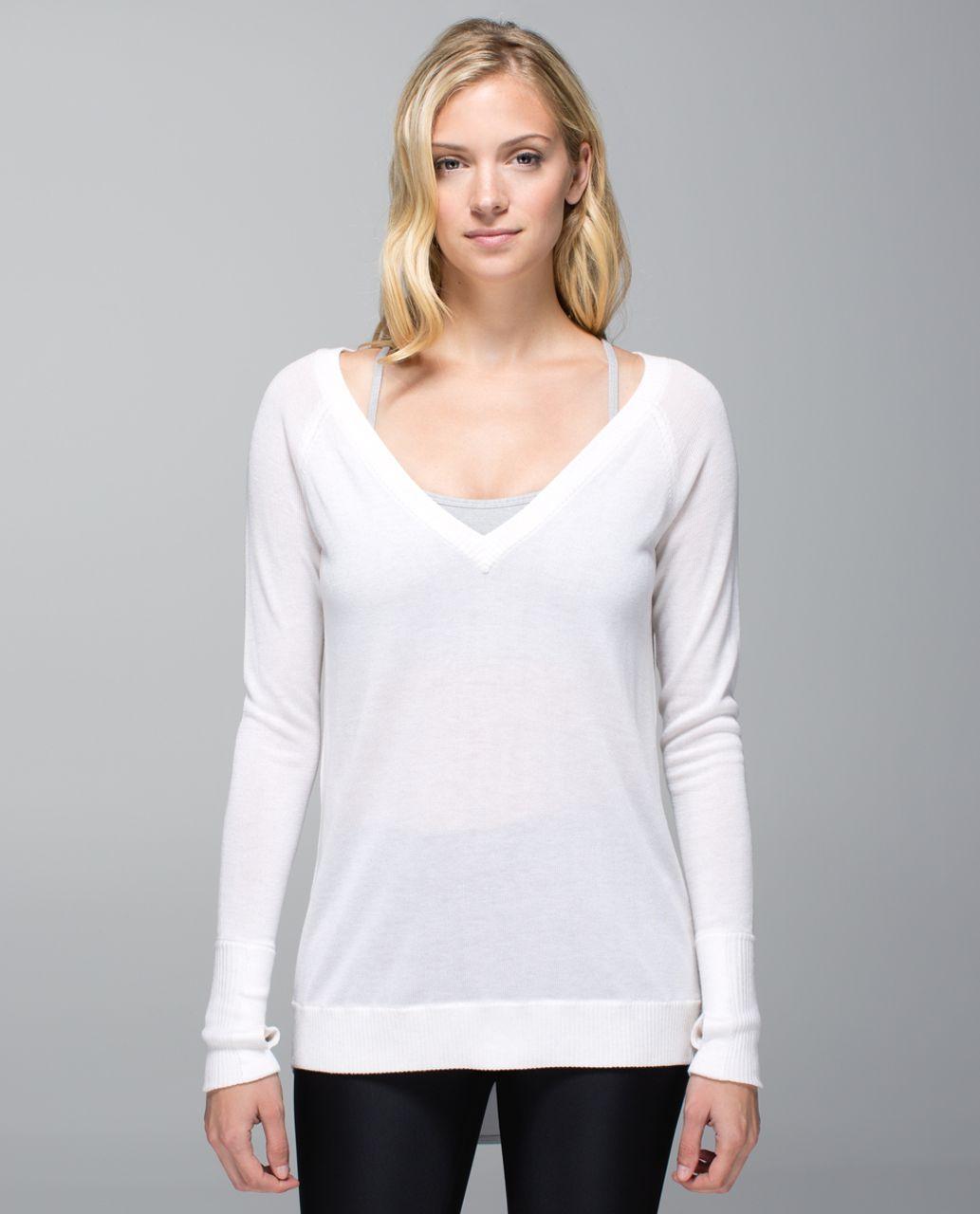 Lulus Popcorn Cream Pullover Sweater Top Size Medium