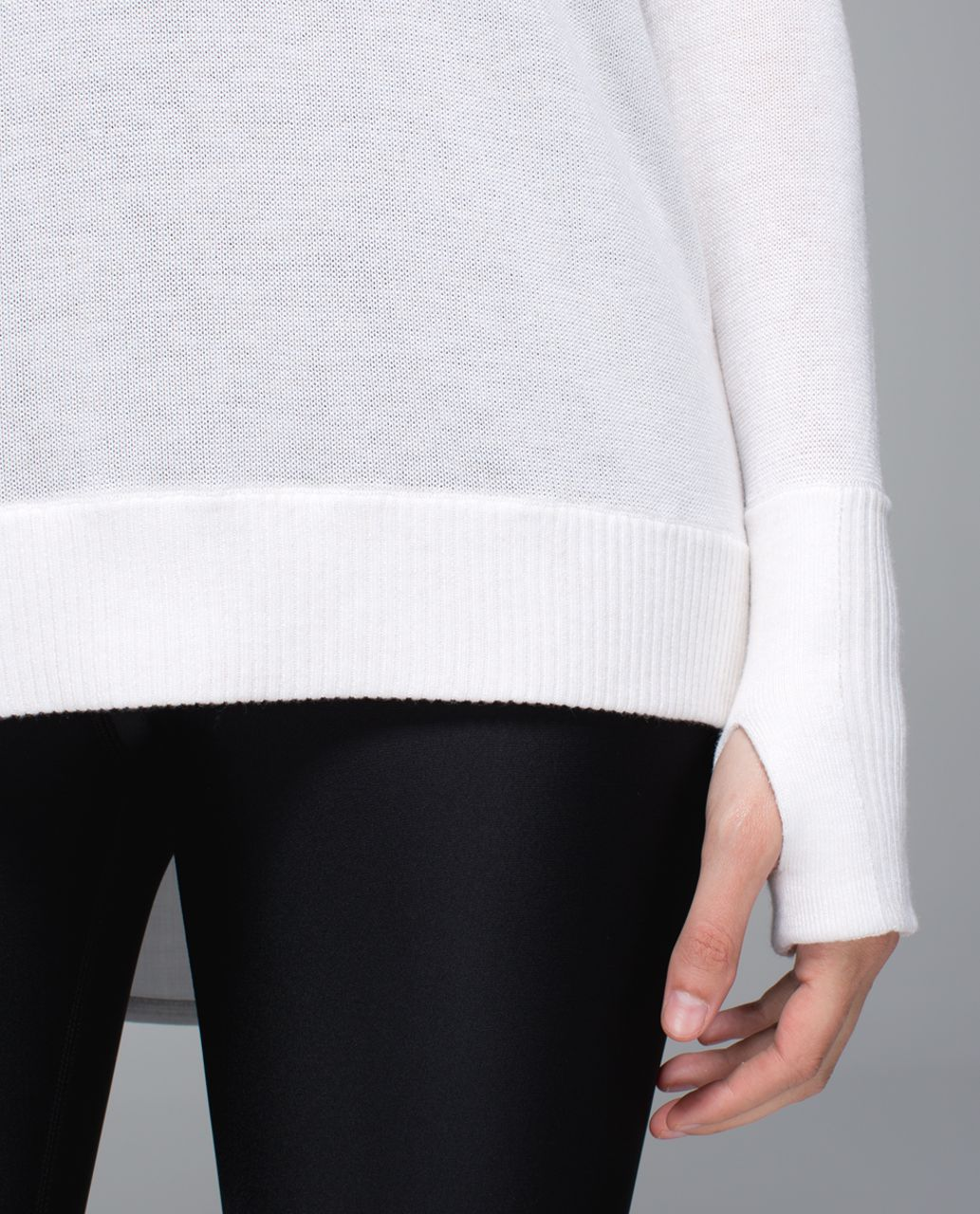 Lululemon Unity Pullover - Heathered White /  White