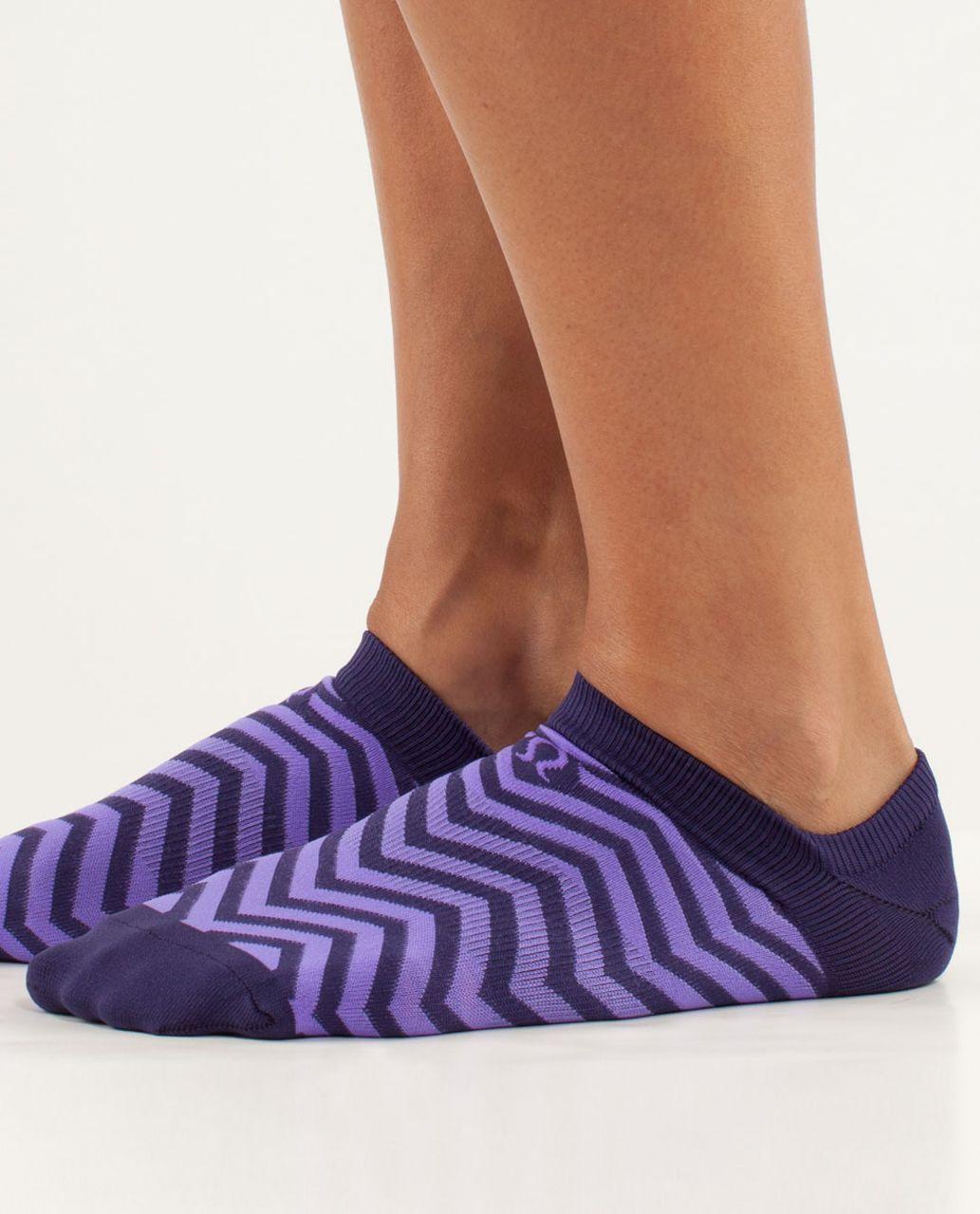 Lululemon Women's Featherweight Sock - Chevron Dense Purple / Power Purple