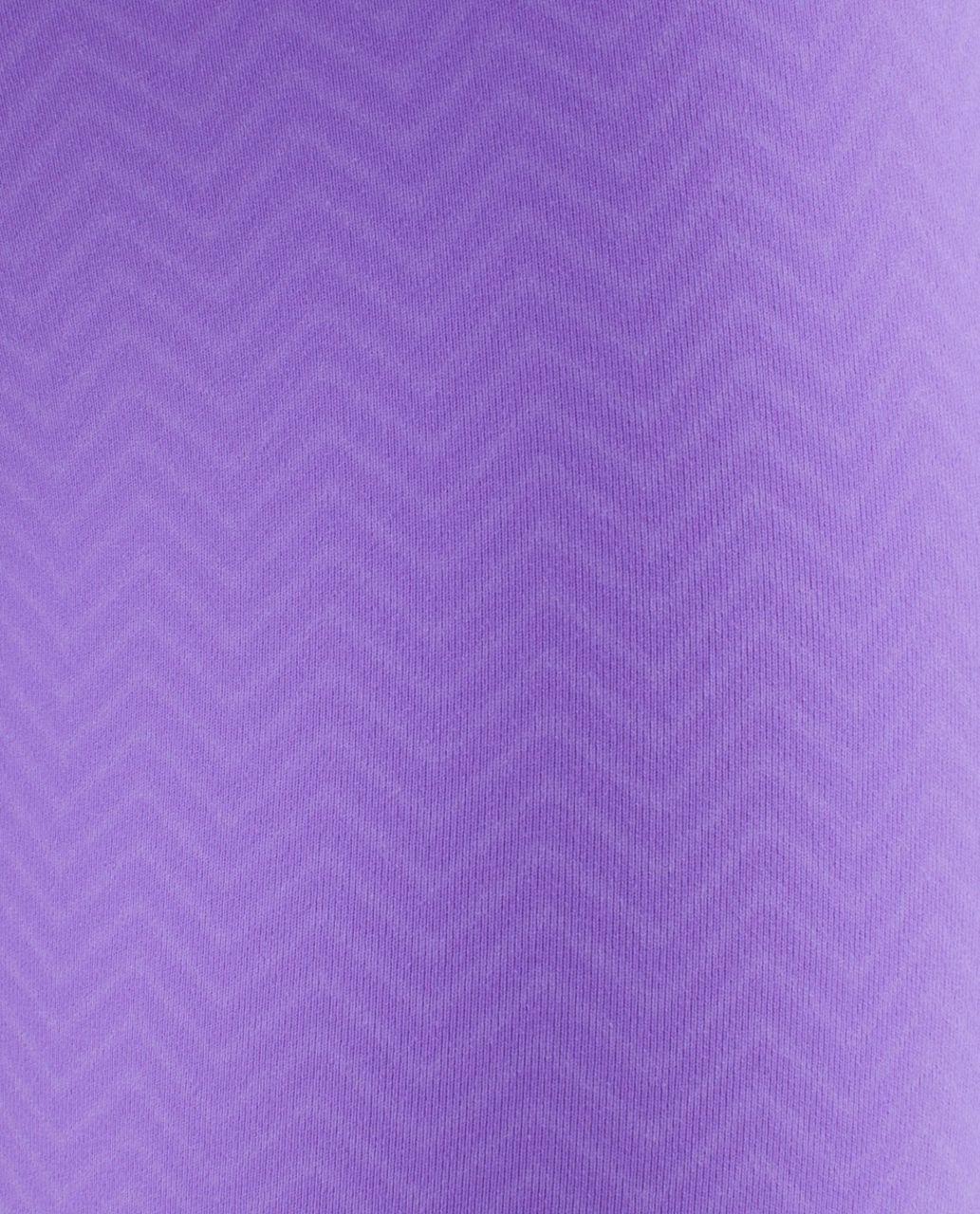 Lululemon Wunder Under Crop *Embossed - Mini Squiggle Emboss Power Purple / Power Purple