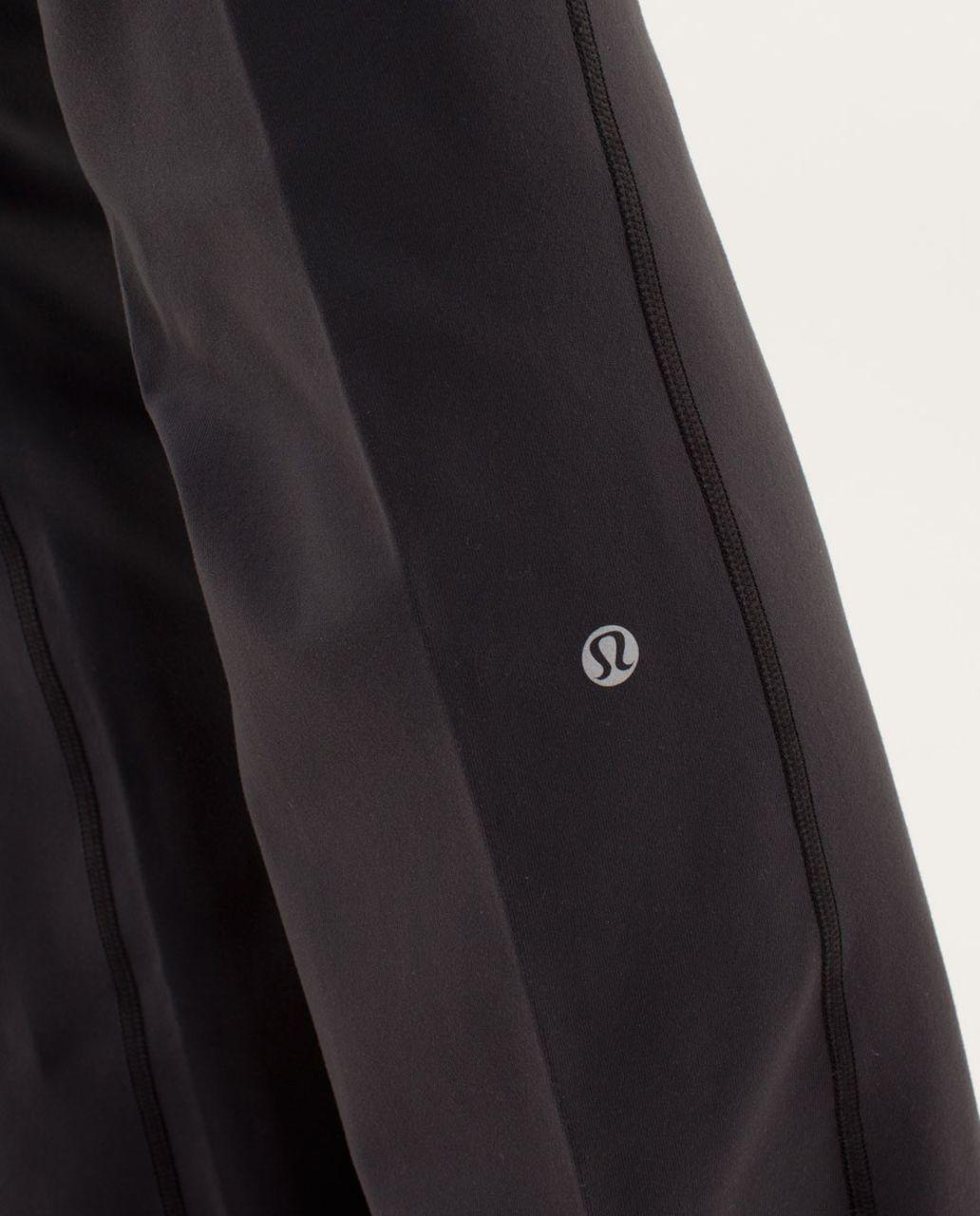 Lululemon Groove Pant (Regular) - Deep Coal / Currant / Fall 12 Quilt 14