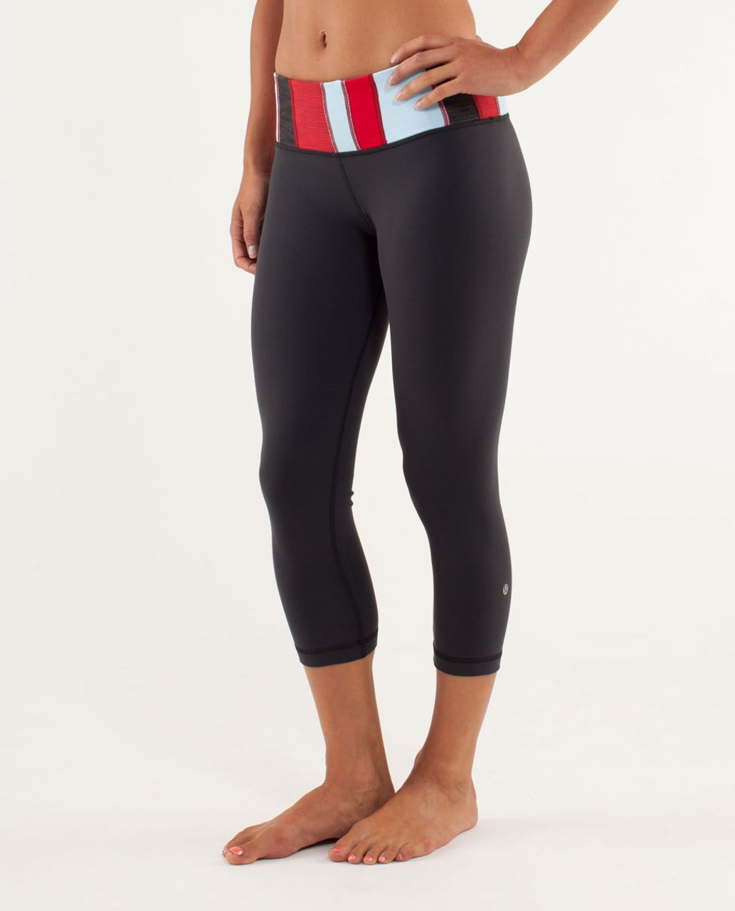 Lululemon Wunder Under Crop - Deep Coal / Fall 12 Quilt 11