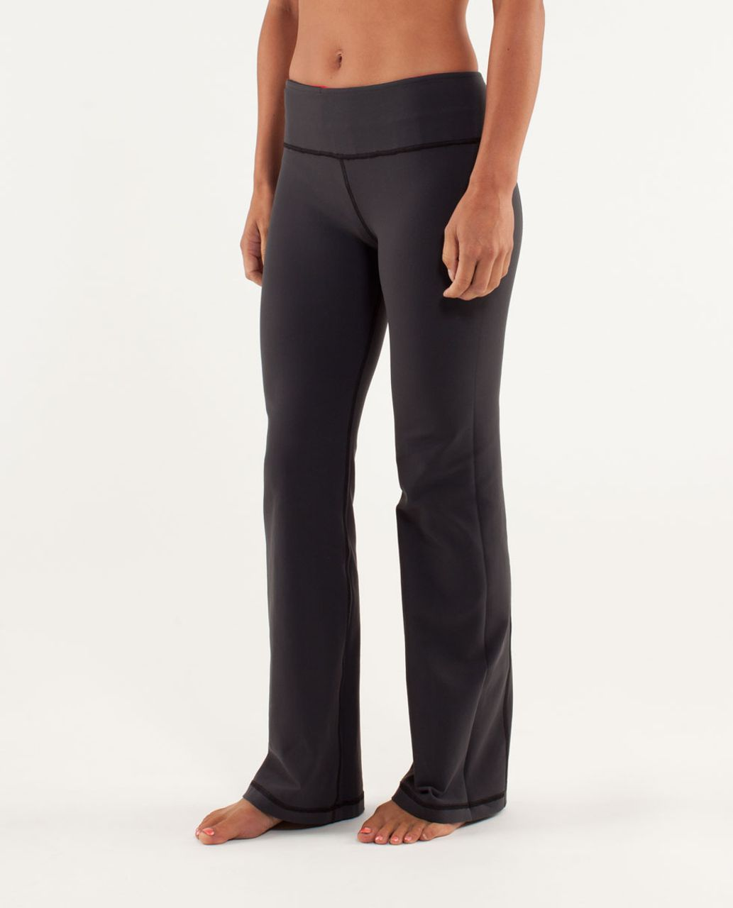 Lululemon Groove Pant (Tall) - Deep Coal / Currant / Fall 12 Quilt 14