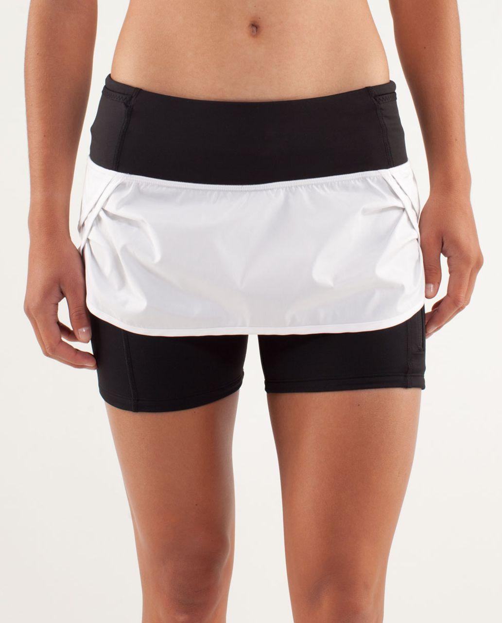 Lululemon Run: Speed Squad Skirt - White / Black - lulu fanatics