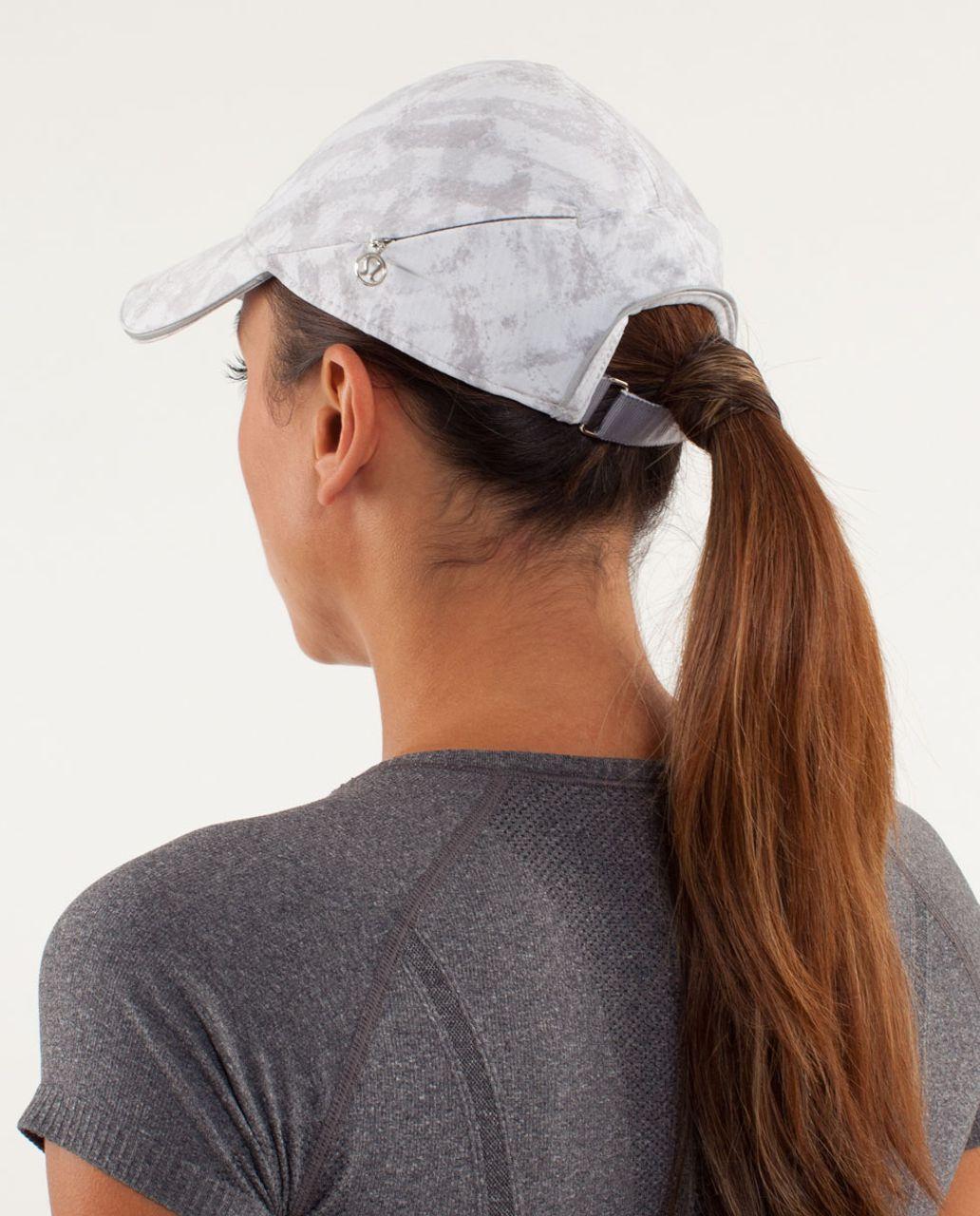 Lululemon Go The Distance Run Hat - Blazer Print   White - lulu fanatics 3e2d45bb437f