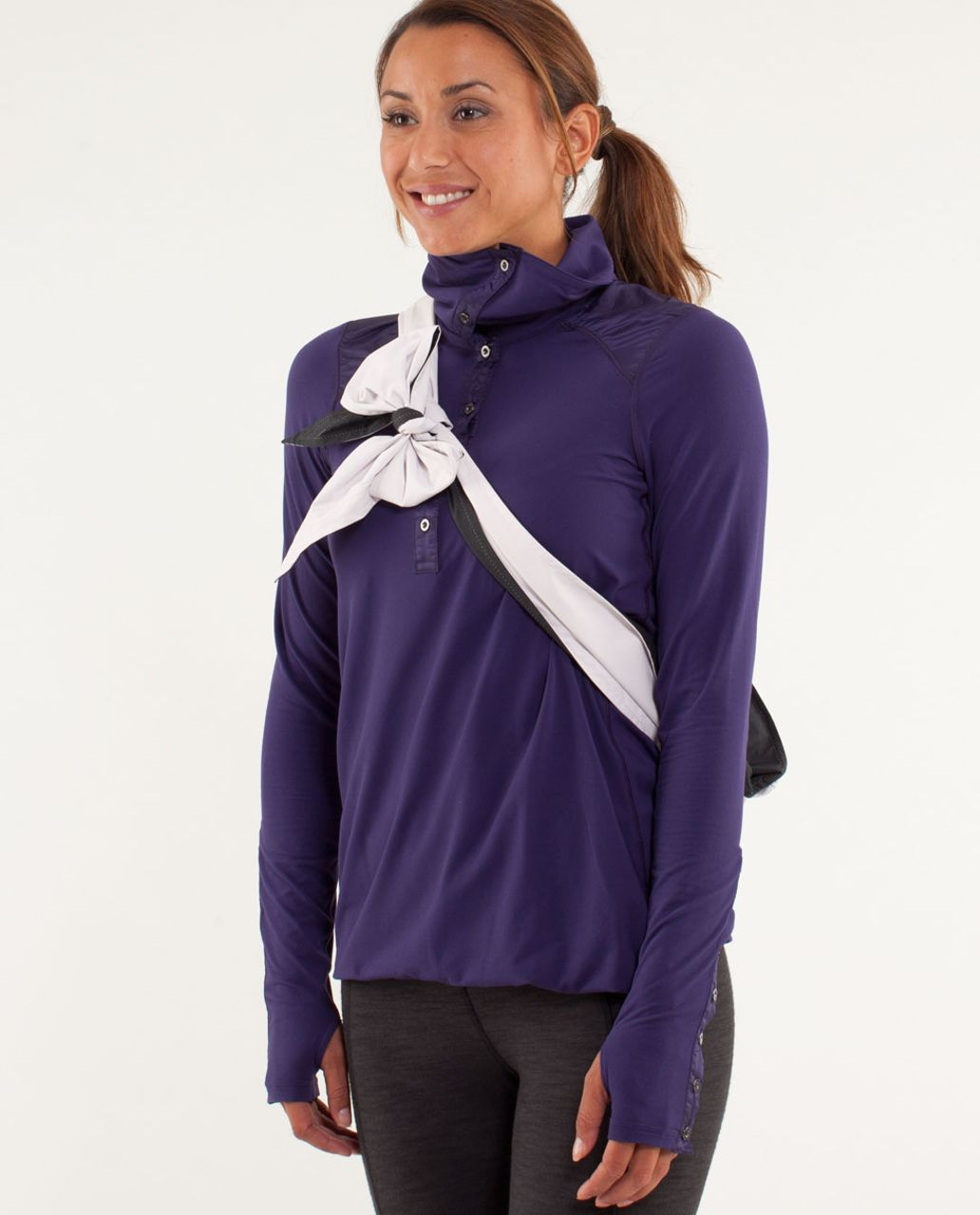 Lululemon Pedal Power Rain Jacket - Neutral Blush / Black - lulu ...