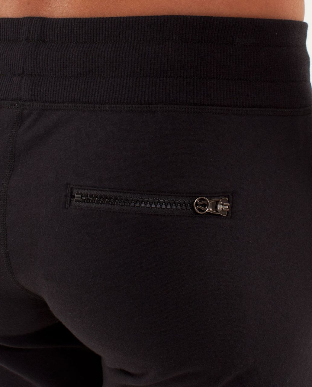 4e1556ee59dfe Lululemon Tea Lounge Crop - Black - lulu fanatics