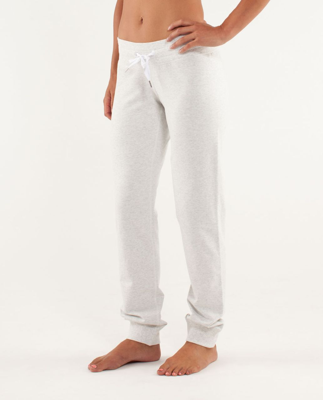 792ed38b9ab98 Lululemon Tea Lounge Pant - Heathered White - lulu fanatics