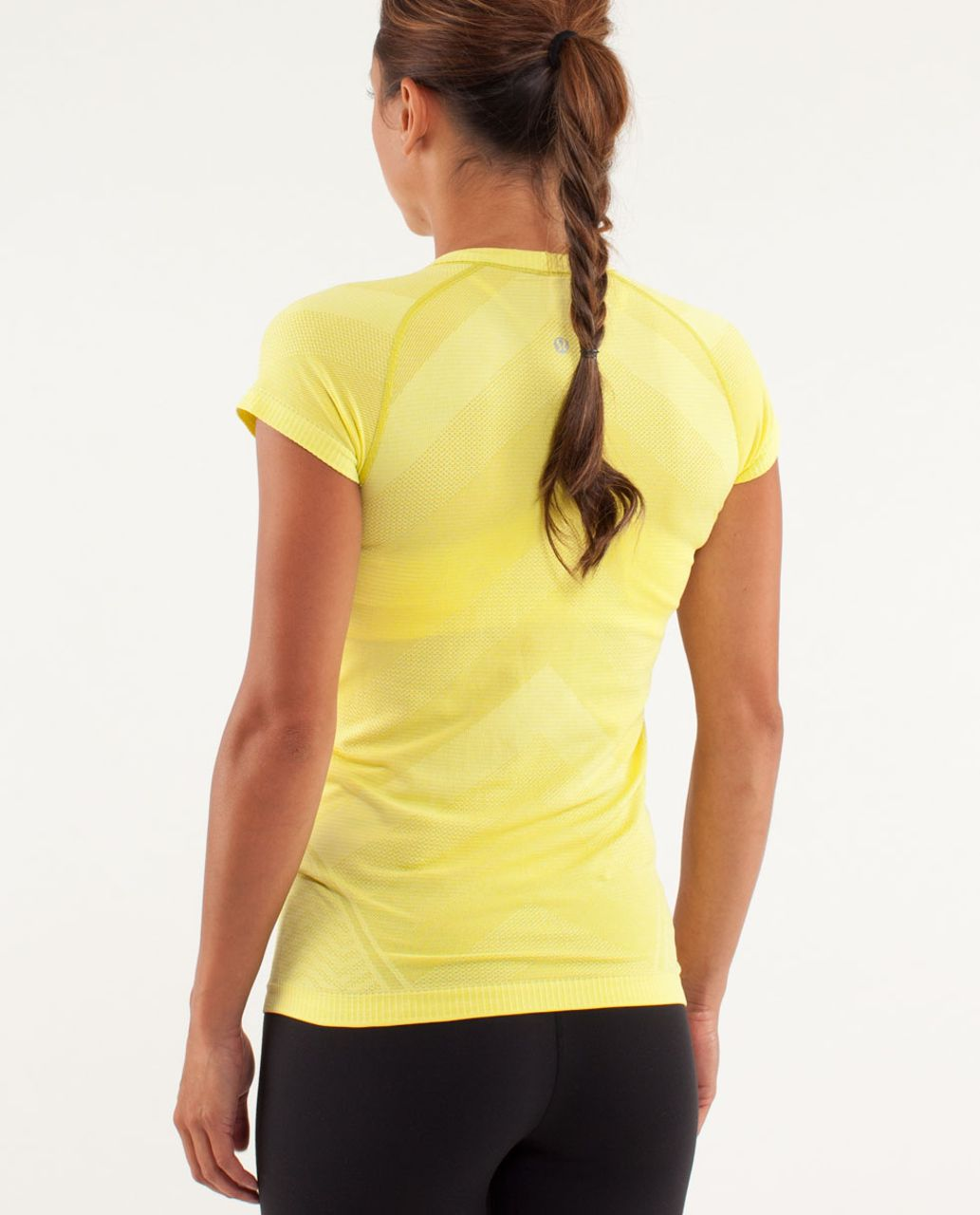 Lululemon Run:  Swiftly Tech Short Sleeve - Split Pea