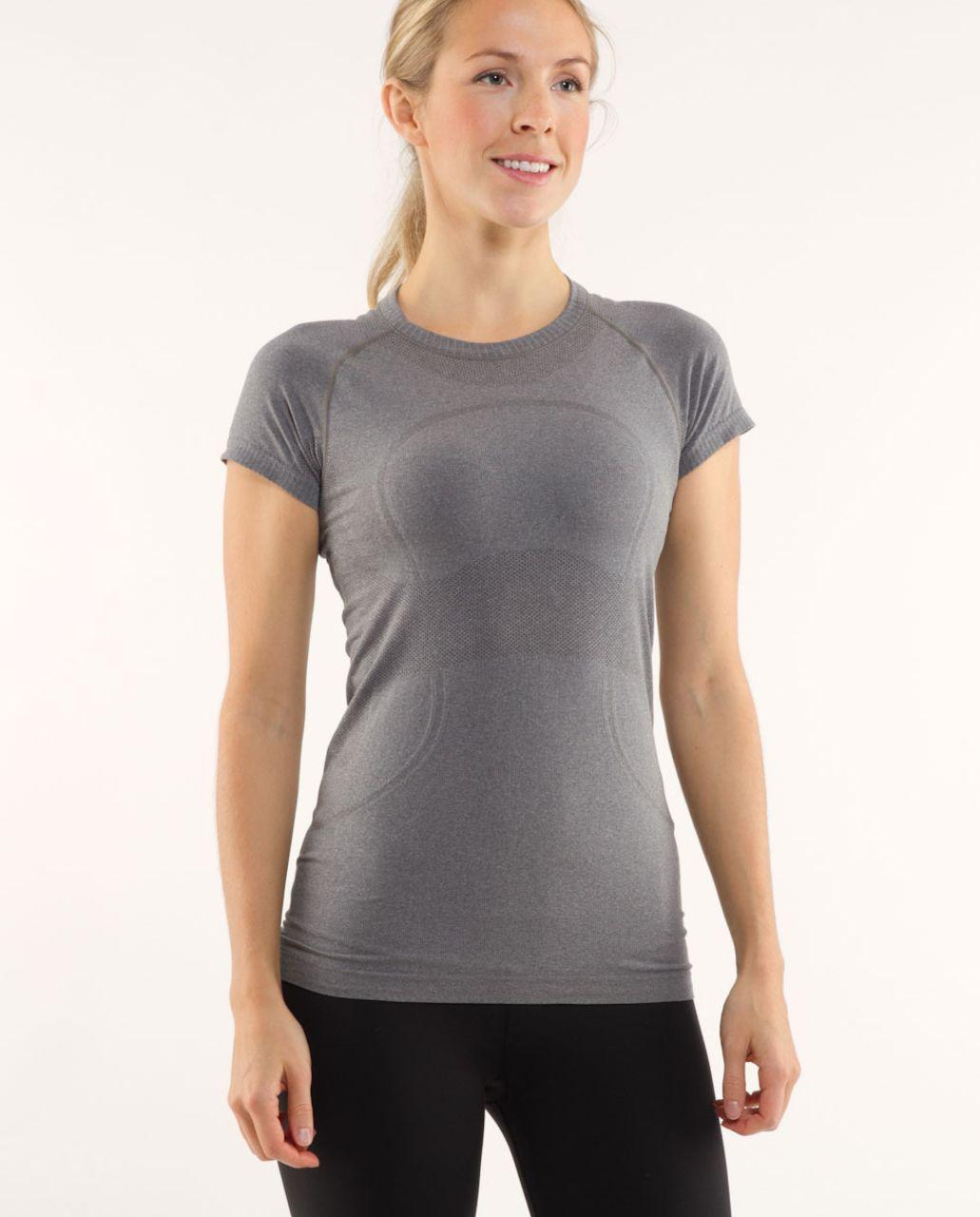Lululemon Run:  Swiftly Tech Short Sleeve - Dark Classic Sport Grey