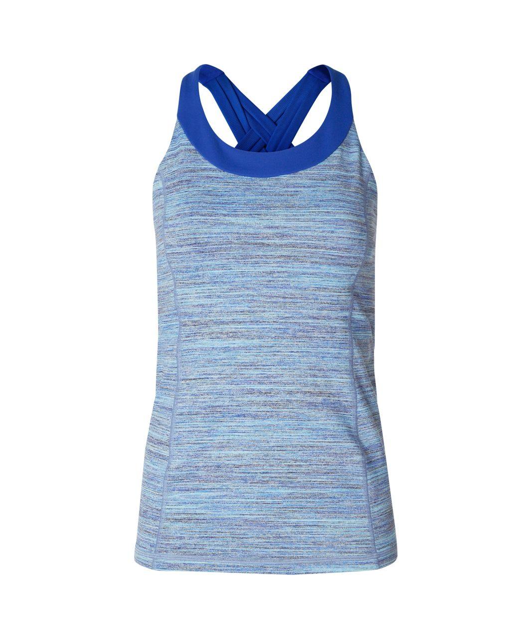 Lululemon Enhearten Tank - Space Dye Camo Caspian Blue Sapphire Blue / Sapphire Blue