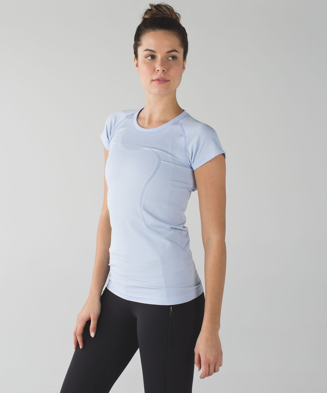 Lululemon Swiftly Tech Short Sleeve Crew - Heathered Chalk