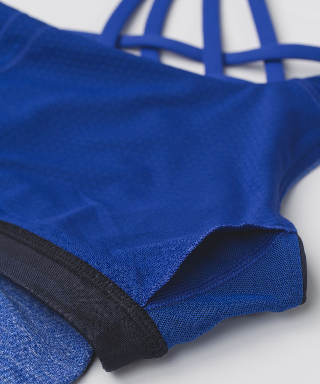 Lululemon Wild Tank - Heathered Sapphire Blue / Mini Coast Camo Deep Navy Black / Sapphire Blue