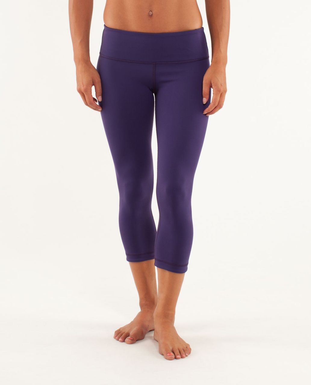 Lululemon Wunder Under Crop *Reversible - Dense Purple / Black