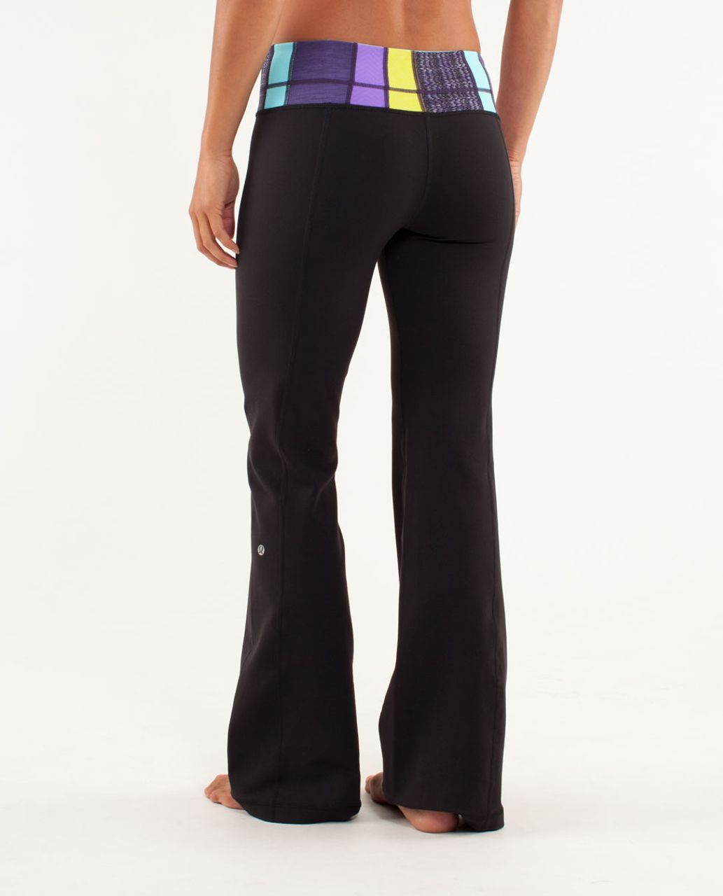 Lululemon Groove Pant (Tall) - Black / Fall Quilt 13 / Angel Blue