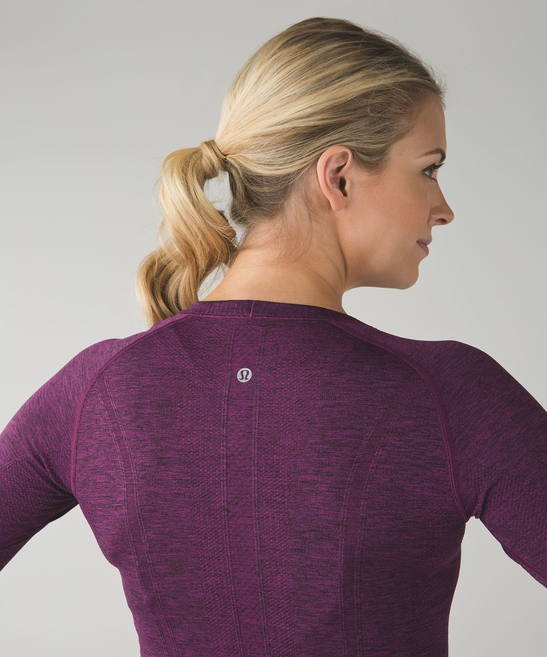 Lululemon Swiftly Tech Long Sleeve Crew - Heathered Regal Plum
