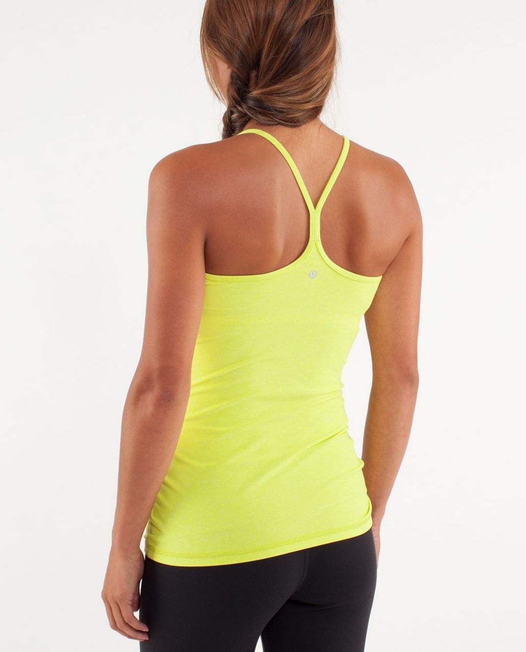 Lululemon Power Y Tank *Luon Light - Heathered Split Pea