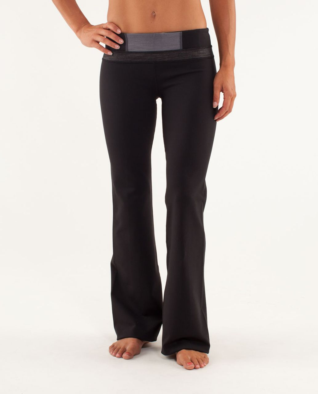 Lululemon Groove Pant (Regular) - Black / Fall 12 Quilt 12 / Black Slub Denim