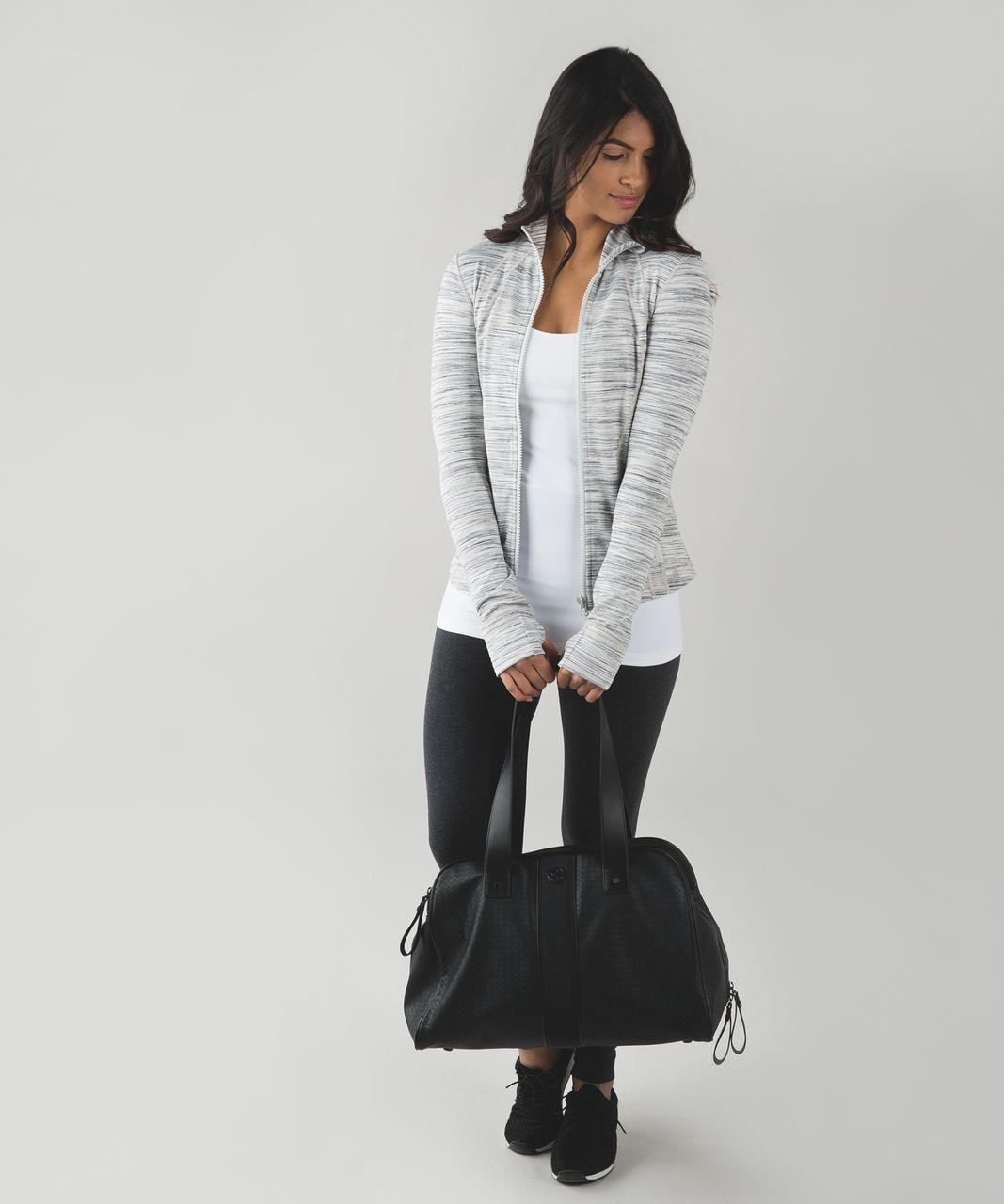 Lululemon Define Jacket - Space Dye Camo White Silver Spoon