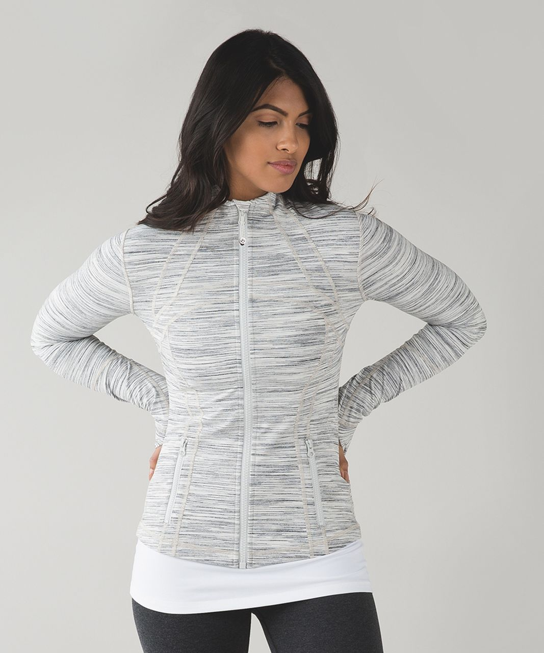 Lululemon Define Jacket - Space Dye Camo White Silver Spoon