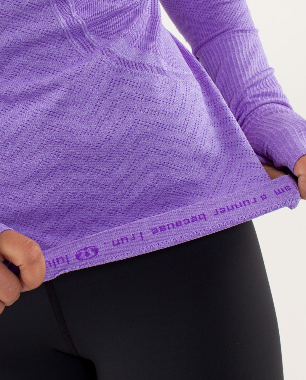 Lululemon Run:  Swiftly Tech Long Sleeve - Power Purple