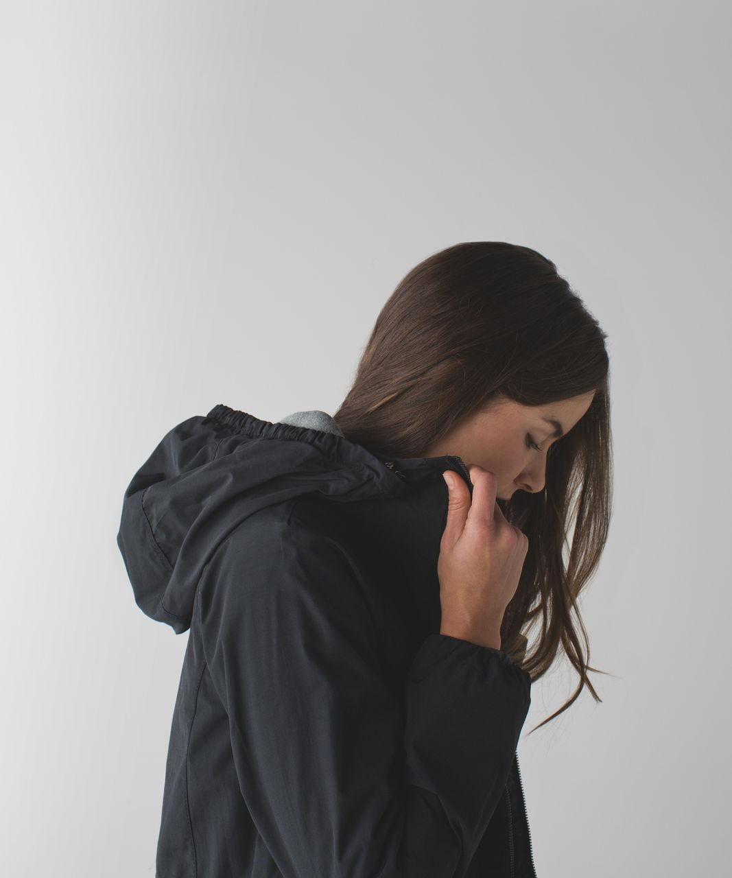 Lululemon Rain for Daze Jacket - Black / Static Mist Dark Slate Black