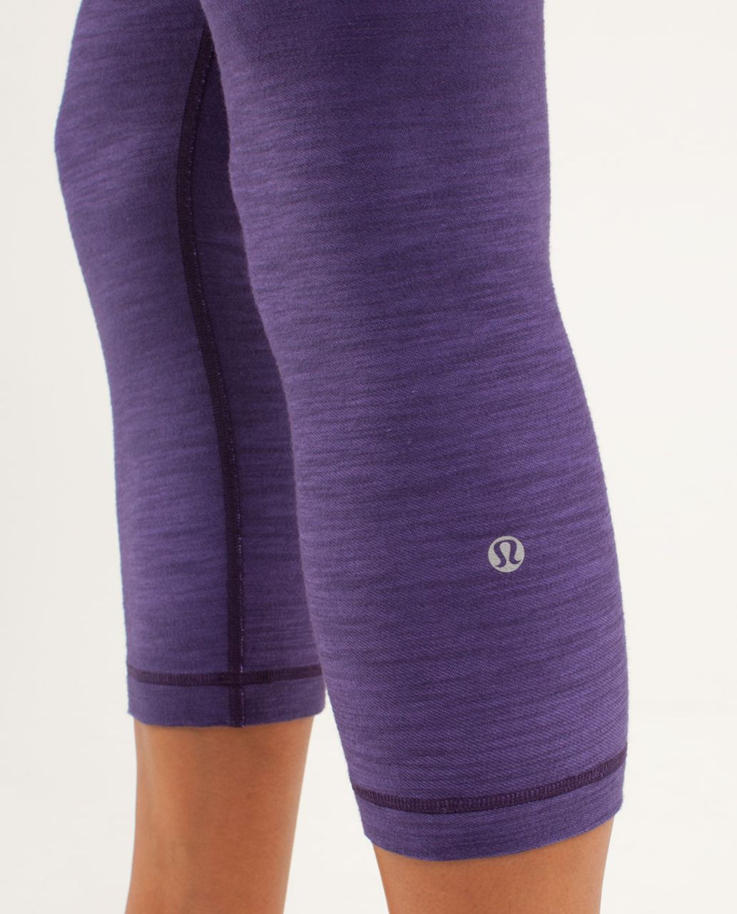 Lululemon Wunder Under Crop *Denim - Dense Purple Slub Denim / Fall 12 Quilt 4 / Angel Blue