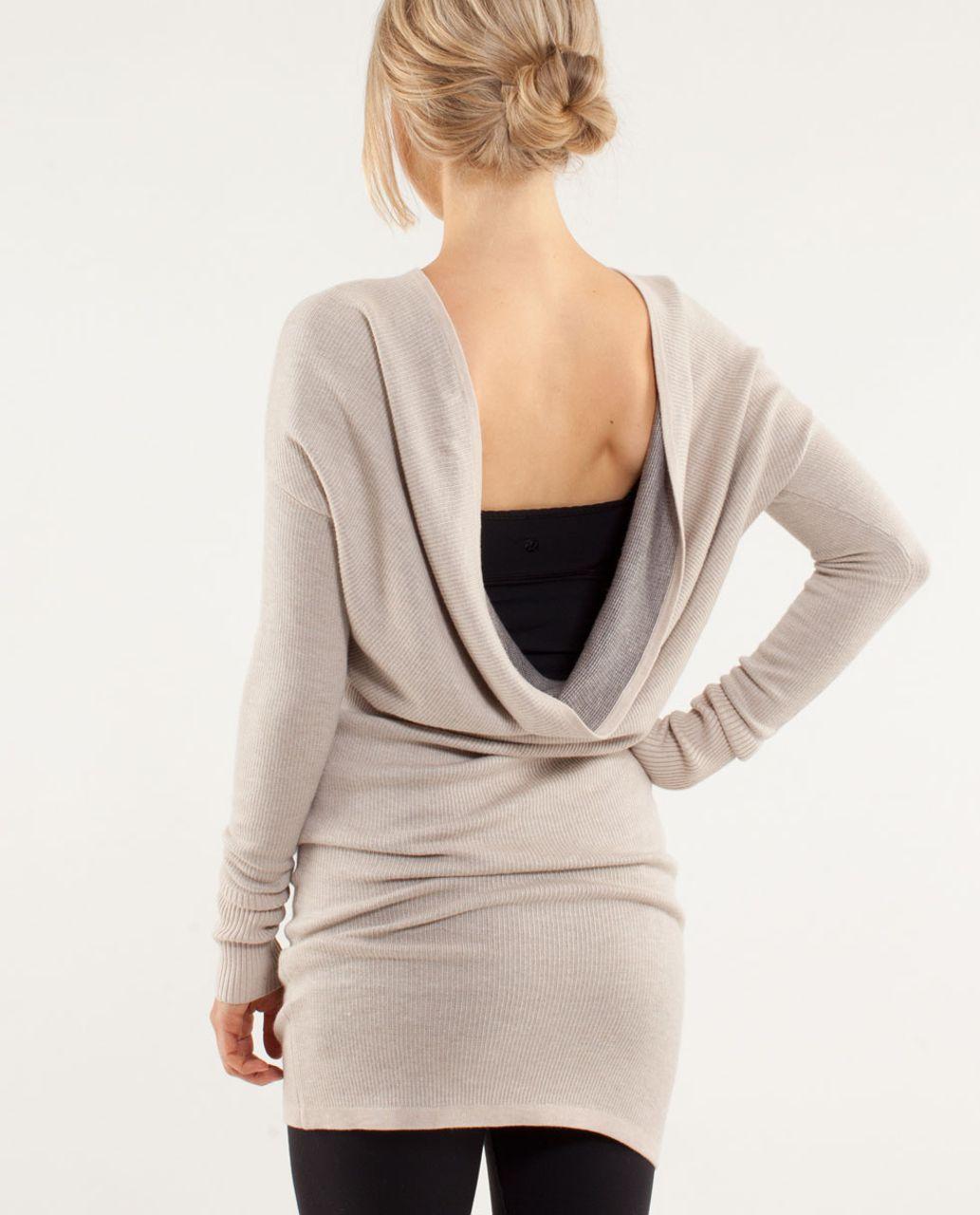 f3650ad5a8b Lululemon Serenity Sweater Wrap - Heathered Cashew   Coal - lulu fanatics