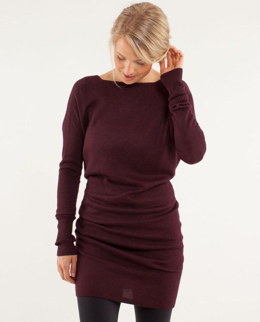 db2b832564f Lululemon Serenity Sweater Wrap - Heathered Bordeaux Drama   Heathered  Pretty Pink - lulu fanatics