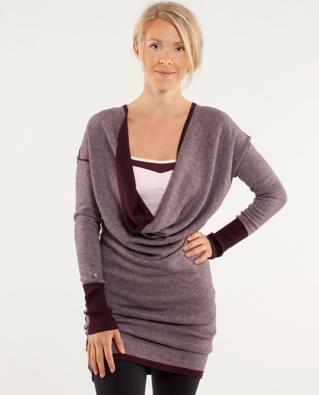 Lululemon Serenity Sweater Wrap - Heathered Bordeaux Drama ...