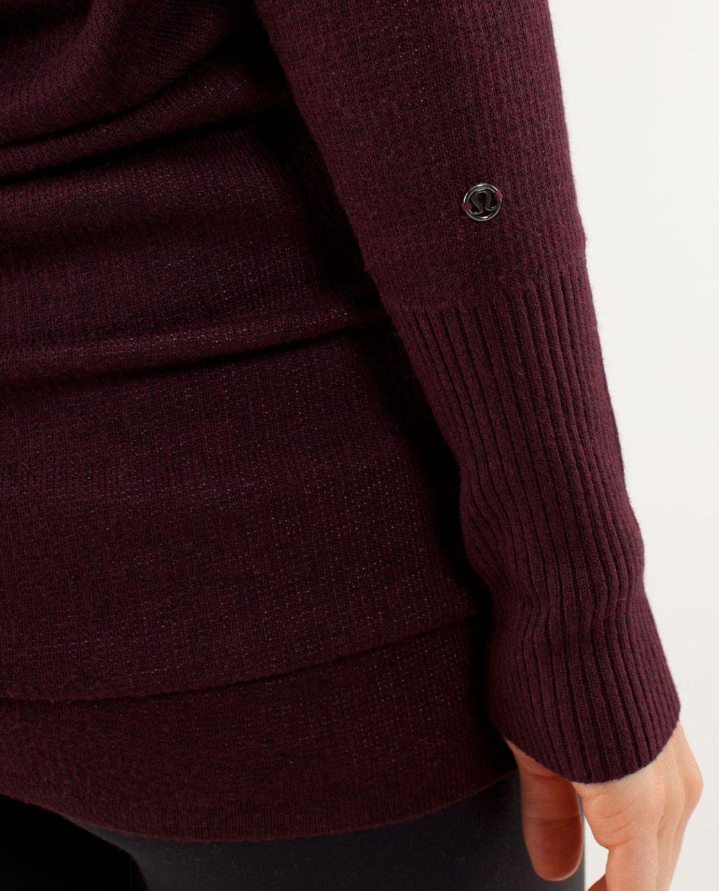 7471e97545b Lululemon Serenity Sweater Wrap - Heathered Bordeaux Drama   Heathered  Pretty Pink