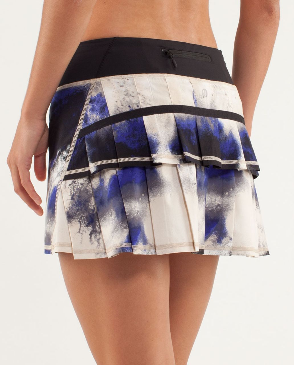 Lululemon Run:  Pace Setter Skirt (Regular) - Milky Way Multi Print / Black / Pigment Blue