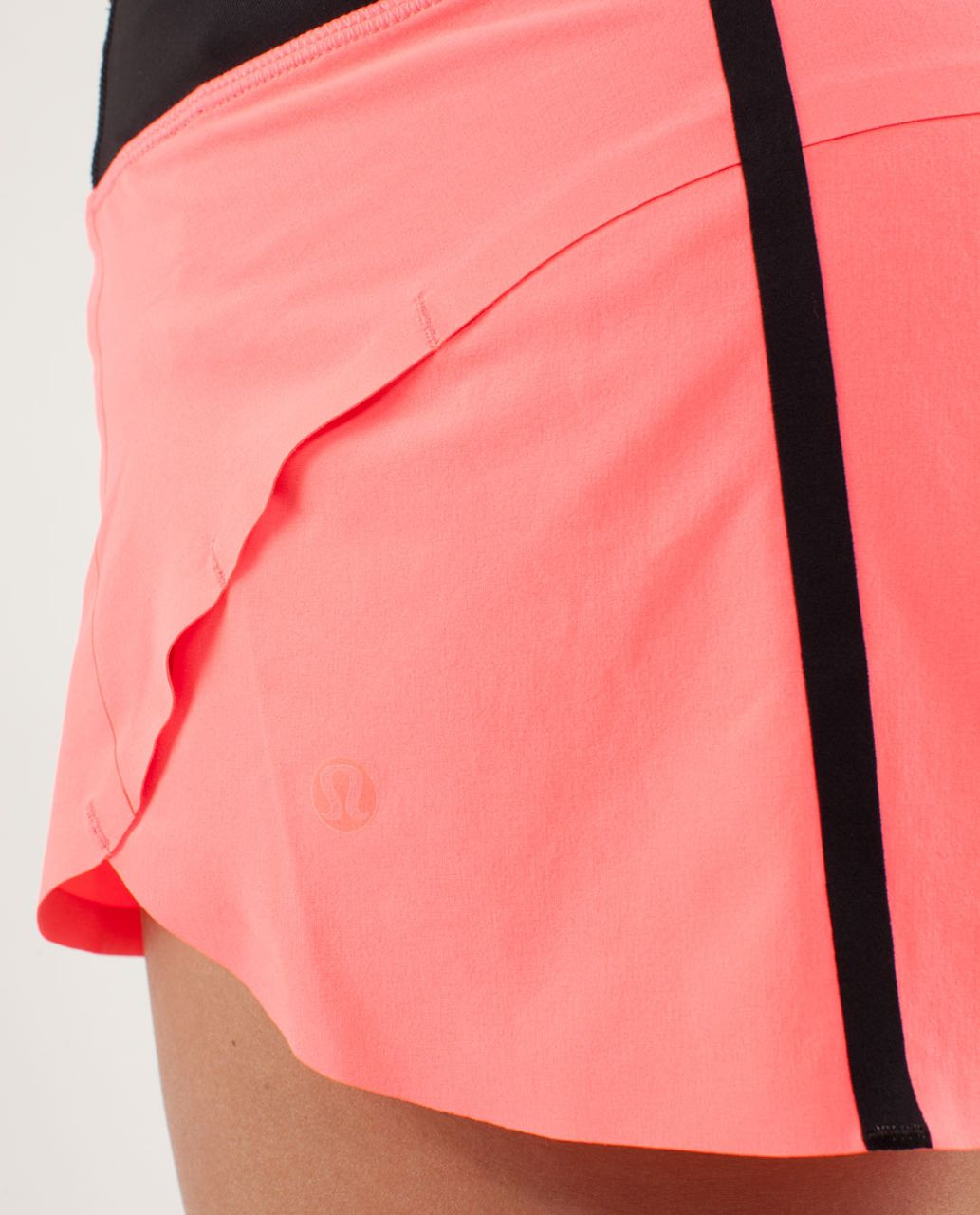 Lululemon Run:  Speed Short *Naked Seam - Flash Light / Black