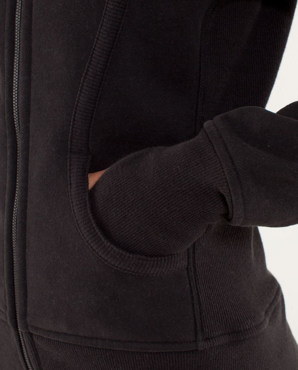 Lululemon Scuba Hoodie - Black /  Power Purple