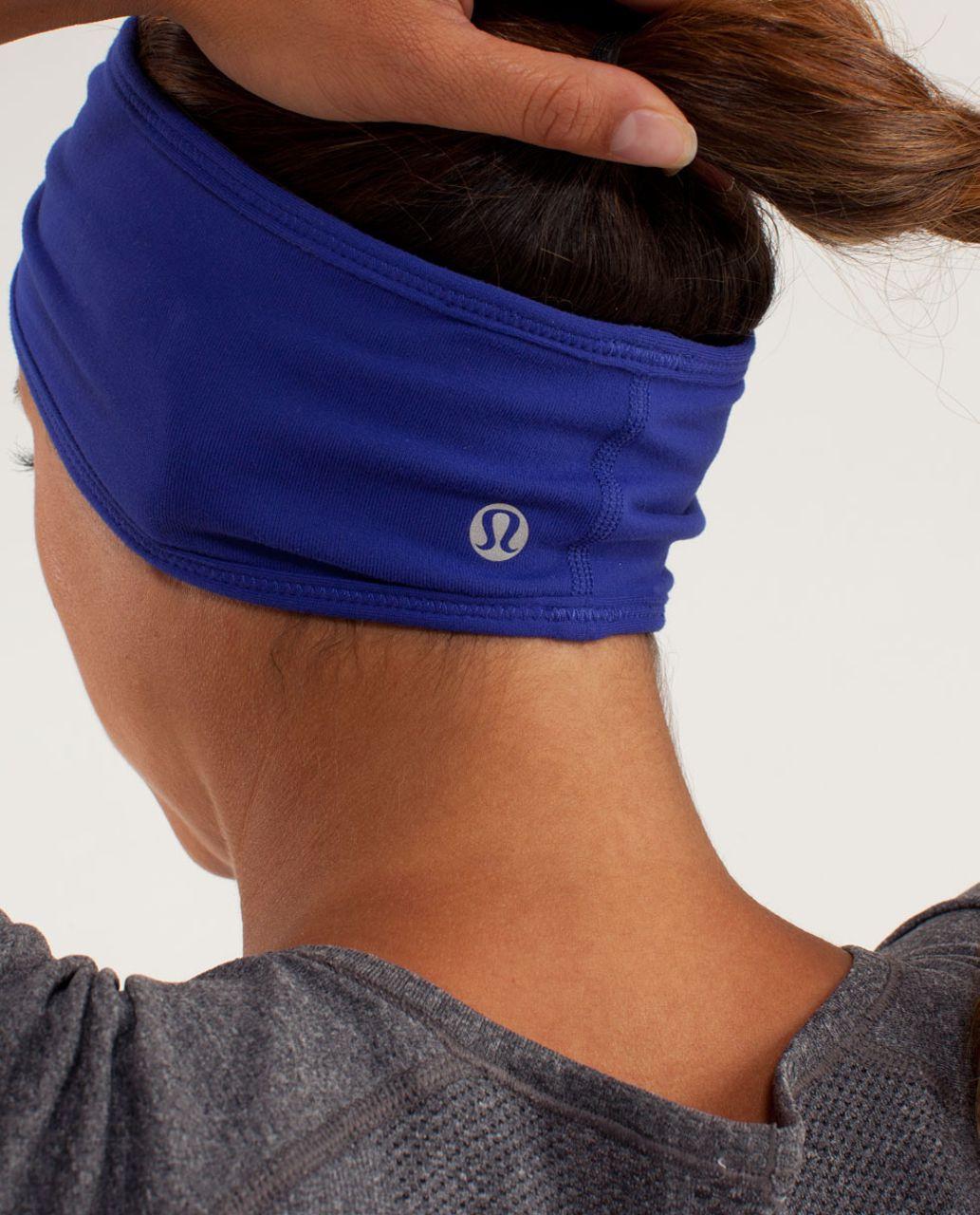 Lululemon Brisk Run Headband - Pigment Blue / Tonka Stripe Pigment Blue / Heathered Pigment Blue