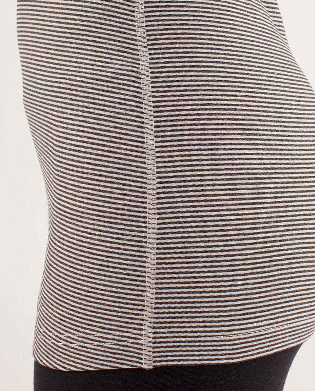 Lululemon Cool Racerback *Extra Long - Tonka Stripe Cashew / Heathered Black