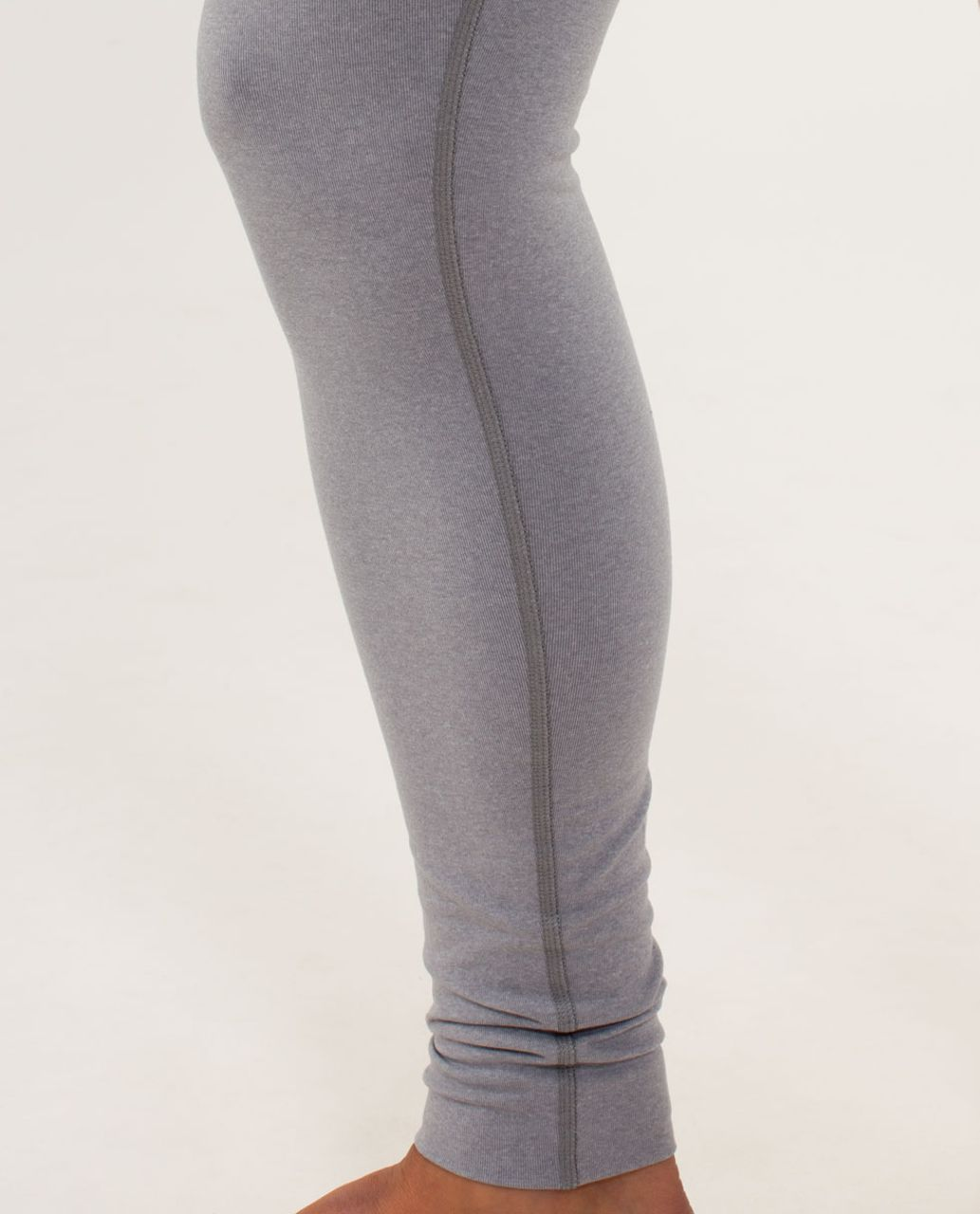 Lululemon Wunder Under Pant - Heathered Fossil / White