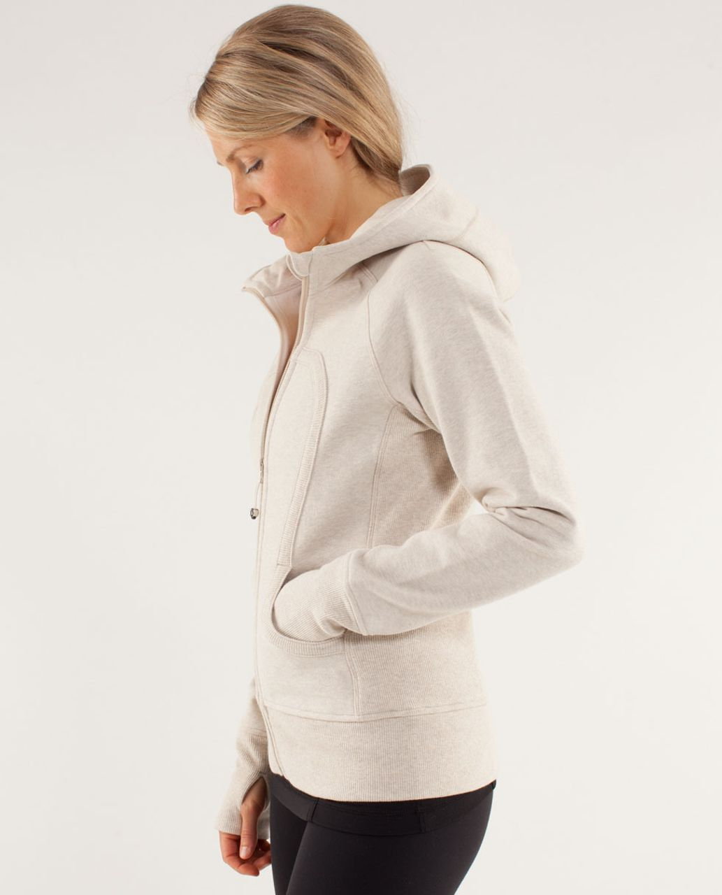 Lululemon Scuba Hoodie - Heathered Cashew / Polar Cream