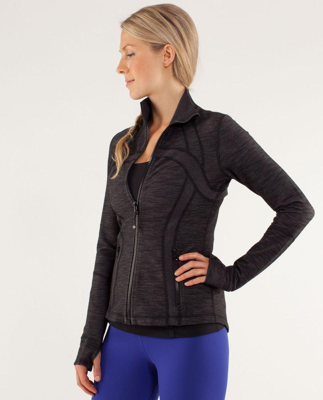 Lululemon Define Jacket *Denim - Black Slub Denim / Tonka Stripe Black / Heathered Black