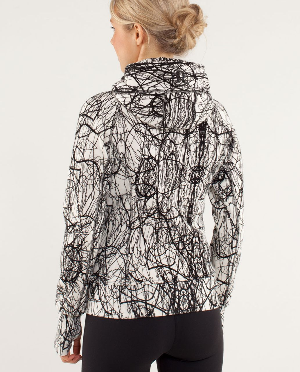 Lululemon Scuba Hoodie - Nesting Black Bird Print / Ghost