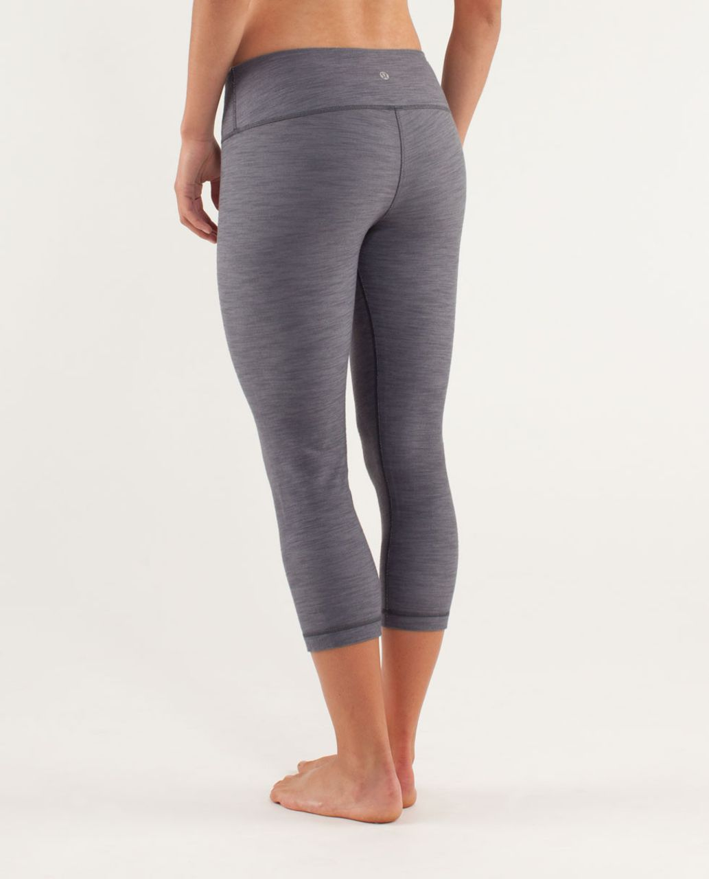 Lululemon Wunder Under Crop *Denim - Coal Fossil Slub Denim / Coal