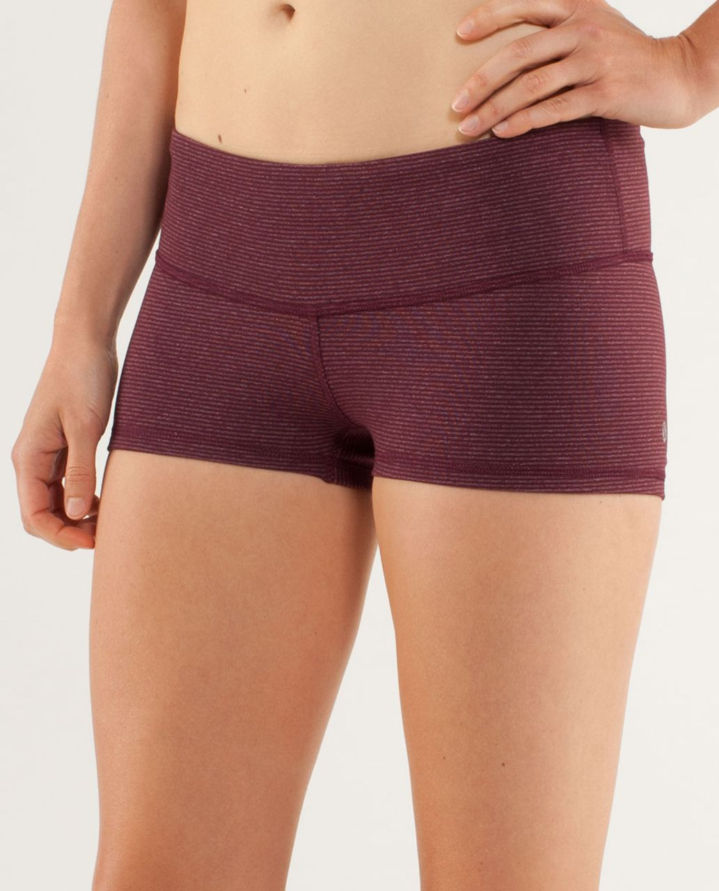 Lululemon Boogie Short - Tonka Stripe Bordeaux Drama / Heathered Bordeaux Drama