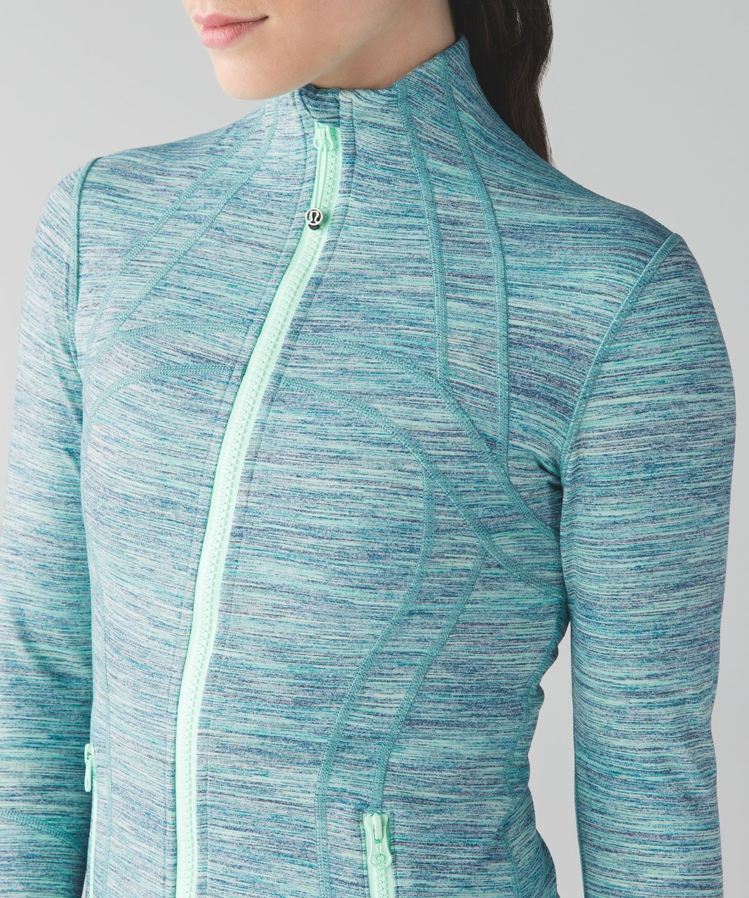 Lululemon Define Jacket - Space Dye Camo Alberta Lake Fresh Teal