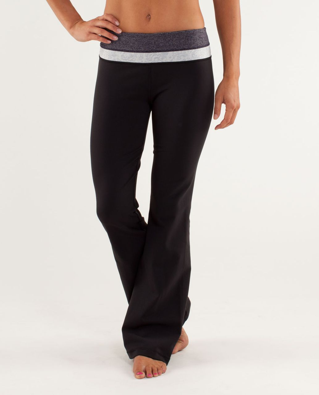 7e9859da1 Lululemon Groove Pant  Slim (Regular) - Black Swan   Herringbone Black Swan    Rose Herringbone Polar Cream - lulu fanatics
