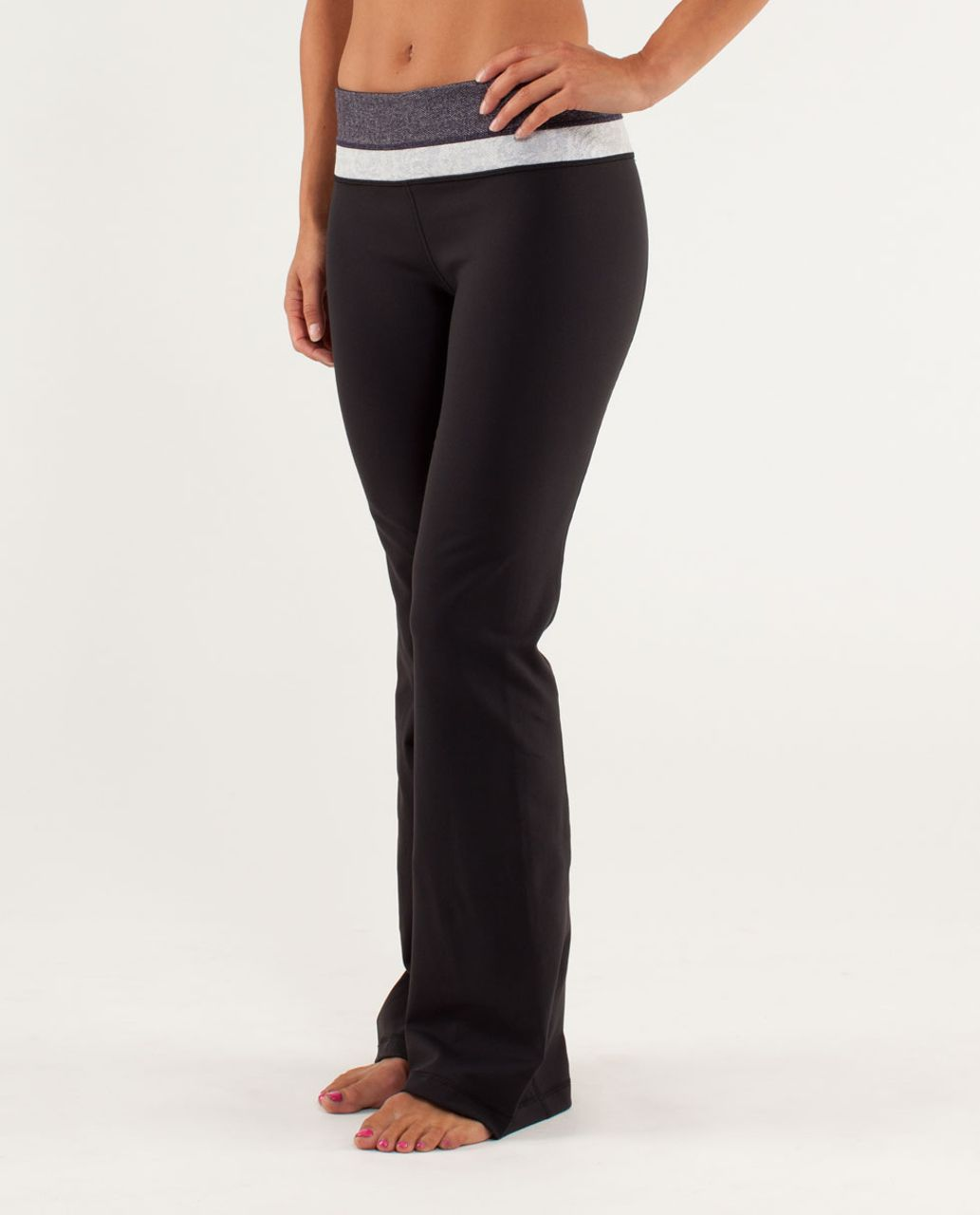 Lululemon Groove Pant *Slim (Regular) - Black Swan / Herringbone Black Swan / Rose Herringbone Polar Cream