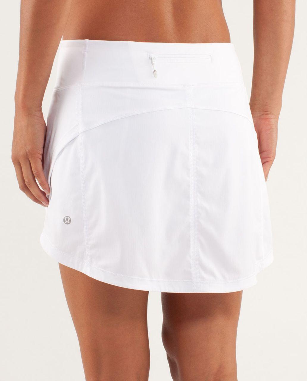Lululemon Full Stride Skirt (Tall) - White - lulu fanatics