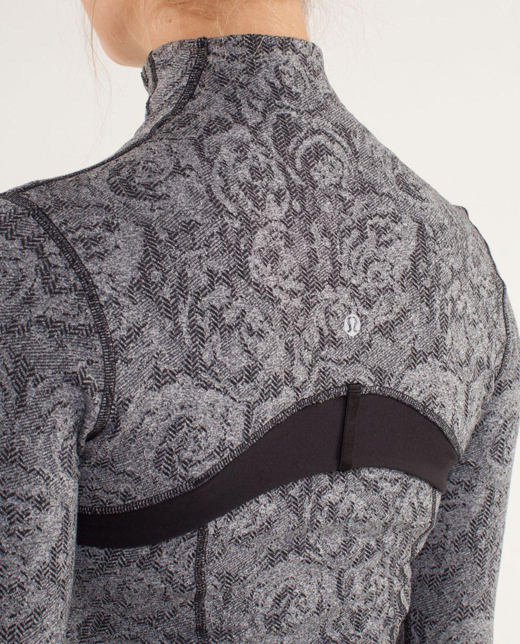 Lululemon Define Jacket *Brushed - Rose Herringbone Black / Black