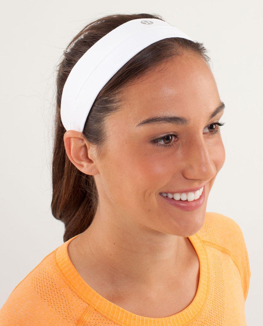 Lululemon Fly Away Tamer Headband - White (First Release)