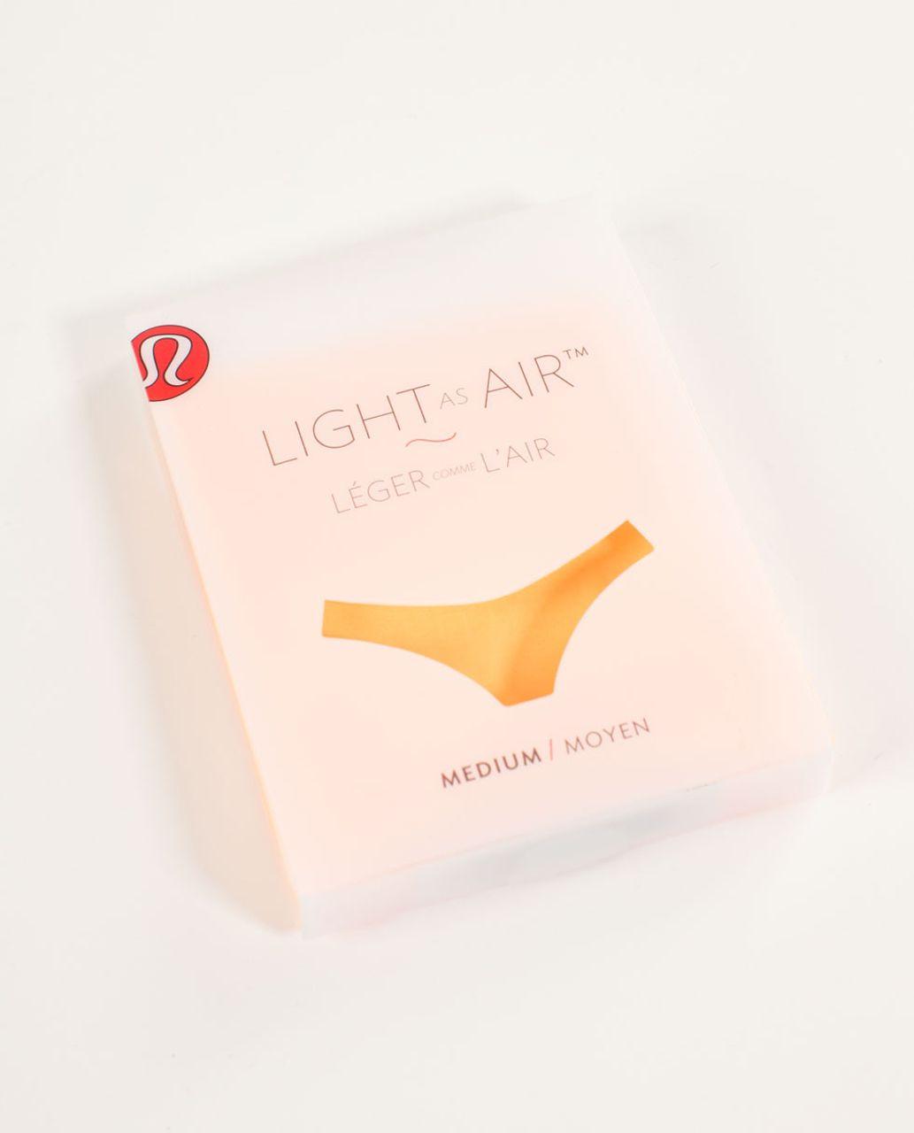 Lululemon Light As Air Thong - Creamsicle Pop